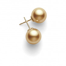 Mikimoto 18k Yellow Gold Basic SS Stud Pearl Earrings - PES1102GK