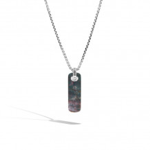 John Hardy Sterling Silver Chain Gemstone Men's Necklace - NMS9997281DBJ-JR