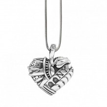 Lagos Sterling Silver Hearts of LAGOS Heart of New York Pendant - 07-80608-NY30