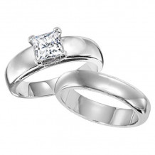 Lieberfarb Platinum Solitaire Engagement Ring - ED70812