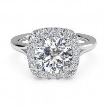 Ritani French-Set Halo Diamond Engagement Ring - 1R1322