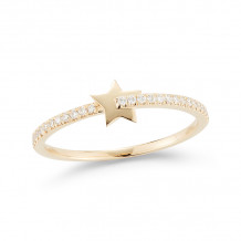 Dana Rebecca 14k Yellow Gold Livi Gold Diamond Star Ring - R1366