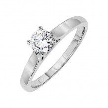 Lieberfarb Platinum Solitaire Engagement Ring - ED70844
