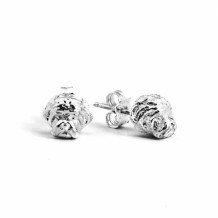 Dog Fever Sterling Silver Maltese Snout Earrings - DFORE00021