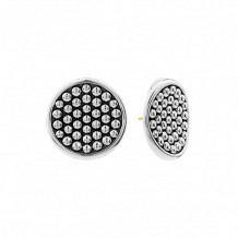 Lagos Sterling Silver Bold Caviar Earrings