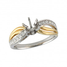 Allison Kaufman Two Tone 14k Gold Diamond Semi-Mount Engagement Ring - L214-56747_TR-
