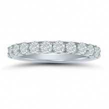 Lieberfarb 14k White Gold Anniversary Wedding Band - LD77836