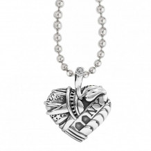 Lagos Sterling Silver Hearts of LAGOS Heart of New York Pendant