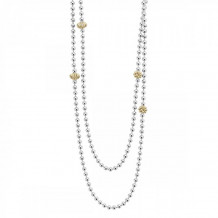 Lagos 18k Gold & Sterling Silver Caviar Icon Necklace - 04-80977-36
