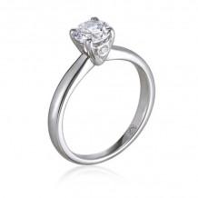 Lieberfarb Platinum Solitaire Engagement Ring - MCW1016-DE