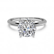 Ritani Solitaire Diamond Embellished Prong Engagement Ring - 1R3279