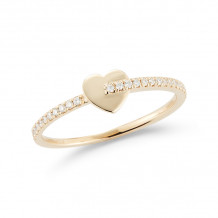Dana Rebecca 14k Yellow Gold Livi Gold Diamond Heart Ring - R1363