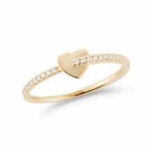Dana Rebecca 14k Yellow Gold Livi Gold Diamond Heart Ring - R1363