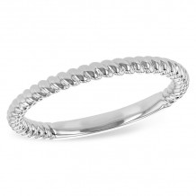 Allison Kaufman 14k White Gold Classic Wedding Band - D217-27720_W