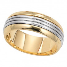 Lieberfarb 14k Gold & Platinum Classic Wedding Band - MT75737