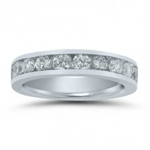 Lieberfarb 14k White Gold Anniversary Wedding Band - LD71616