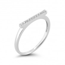 Dana Rebecca 14k White Gold Sylvie Rose Bar Ring - R282