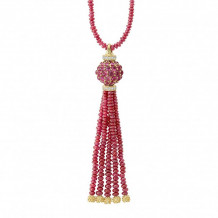 Lagos 18k Yellow Gold Rouge Couture Ruby Necklace - 07-10165-U18