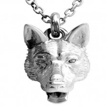 Dog Fever Sterling Silver German Shepherd Pendant with Chain