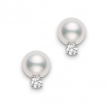 Mikimoto 18k White Gold Basic Jewelry Pearl Earrings - PES702DW