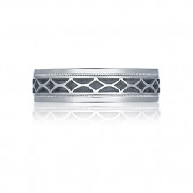Tacori Platinum Sculpted Crescent Carved Wedding Band - 113-6
