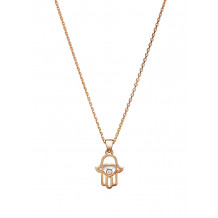 Chopard Good Luck Charms Rose Gold Diamond Hand of Fatima Pendant