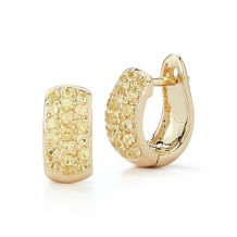 Dana Rebecca 14k Yellow Gold DRD Huggies Earrings