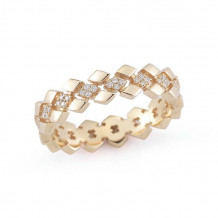 Dana Rebecca 14k Yellow Gold Jeanie Ann Diamond Band - R817