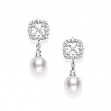 Mikimoto 18k White Gold Classic Pearl Earrings - MEA10172ADXW