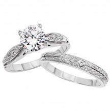 Lieberfarb Platinum Solitaire Engagement Ring - ED70884
