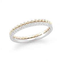 Dana Rebecca Two Tone 14k Gold Poppy Rae Diamond Band - R778