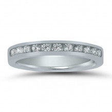 Lieberfarb 14k White Gold Anniversary Wedding Band - LD71613