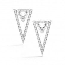 Dana Rebecca 14k White Gold Poppy Rae Diamond Drop Earrings - E2405