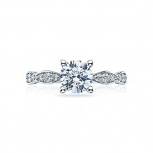 Tacori Platinum Sculpted Crescent Straight Engagement Ring - 46-25rd65