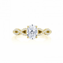 Tacori 14k Yellow Gold Coastal Crescent Criss Cross Diamond Engagement Ring - P105OV75X55FY