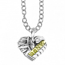 Lagos 18k Gold & Sterling Silver Hearts of LAGOS Heart of New York Pendant - 07-80607-NY32