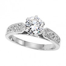 Lieberfarb Platinum Designs Diamond Engagement Ring