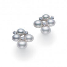 Mikimoto 18k White Gold Bubbles Pearl Earrings - MEQ10052ADXW