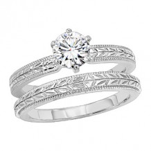 Lieberfarb Platinum Designs Solitaire Bridal Set