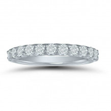Lieberfarb 14k White Gold Anniversary Wedding Band - LD77833