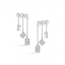 Dana Rebecca 14k White Gold Lisa Michelle Drop Earrings - E2686