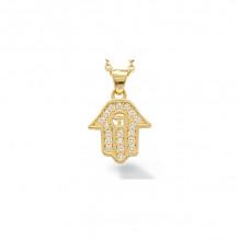 Shema 14k Yellow Gold Hamsa Diamond Necklace - IR2221Y