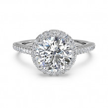 Ritani French-Set Halo Diamond Band Engagement Ring - 1R3702