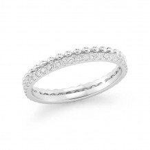 Dana Rebecca 14k White Gold Poppy Rae Diamond Band - R774