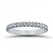 Lieberfarb 14k White Gold Eternity Wedding Band - LD71051