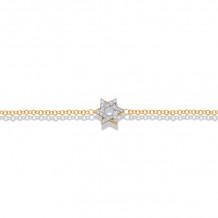 Shema 14k Yellow Gold Star Of David Diamond Bracelet