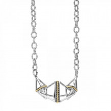 Lagos 18k Gold & Sterling Silver KSL Necklace