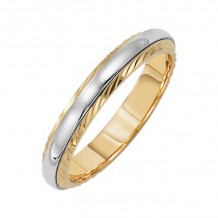Lieberfarb 14k Gold & Platinum Classic Wedding Band - LT70666