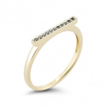 Dana Rebecca 14k Yellow Gold Sylvie Rose Bar Ring - R293
