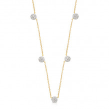 Phillips House 14k Yellow Gold Infinity Micro DBTY Diamond Necklace - N2038DY